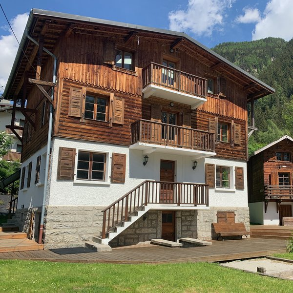 The Castle chalet in the centre of Chamonix. It can accommodate groups of up to 22 guests with 11 bedrooms and 10 bathrooms.