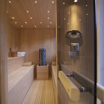 Outdoor hot tub, gym and sauna make this a very special Chamonix hideaway that accommodates 12 guests