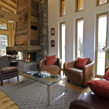 Relax by the fire with a book and a hot chocolate after a fun day on the Mountain