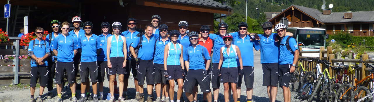 Nomadic's corporate events, such as this mountain biking trip, are becoming almost as popular in the summer as the winter