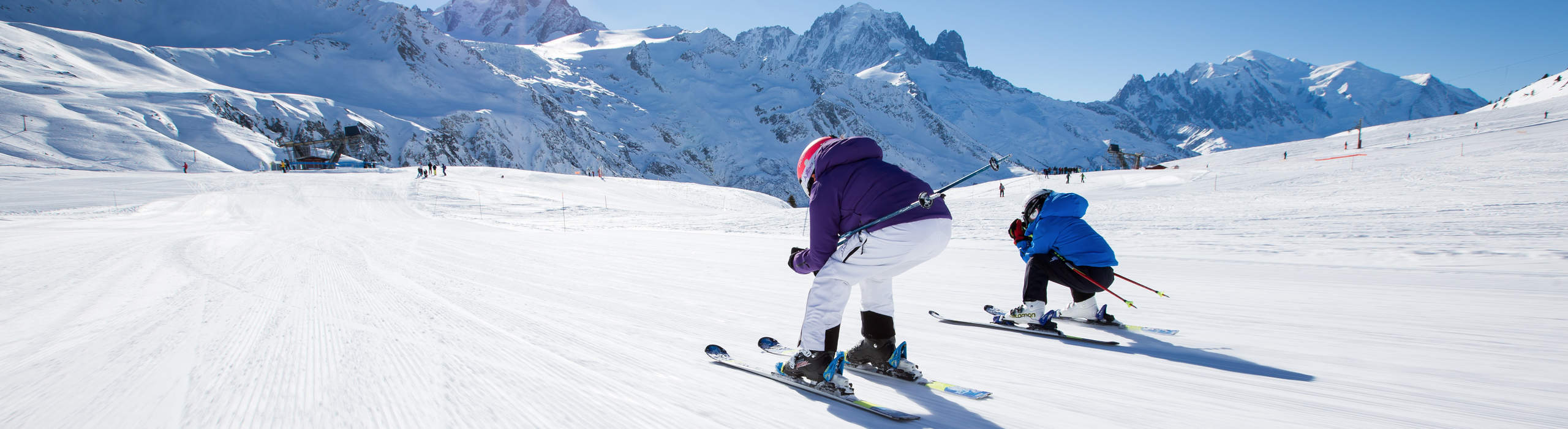 Learning to ski the fun way on your catered chalet holiday